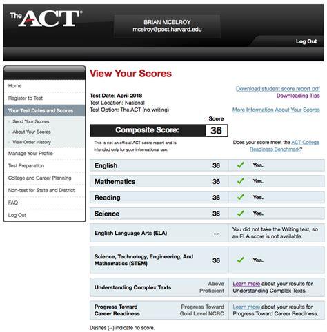 scored  perfect    act