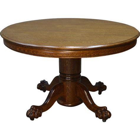 vintage claw foot table antique round oak claw foot dining table 4 feet 2