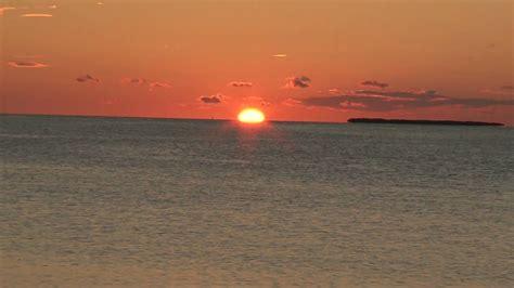 sunset  florida bay  green flash test  sony hdr