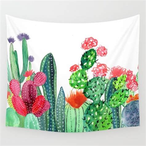 cactus tapestry wall decor sofa towel yoga beach towel