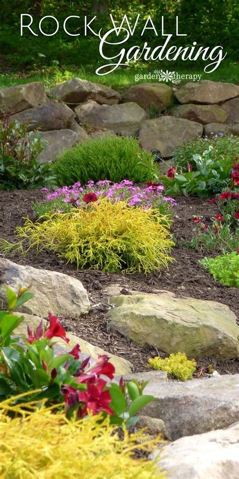 Garden Ideas by Creating And Structure With A Rock Wall Garden