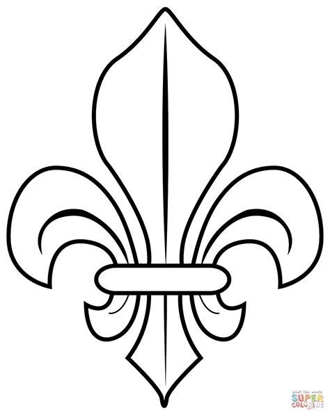 fransk lilje tegninger