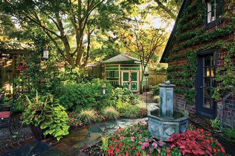 a textbook 1920s tudor in portland gardens backyards