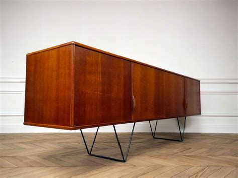 Scandinavian Sideboard by Vintage Scandinavian Sideboard With Metal Legs 1960s For