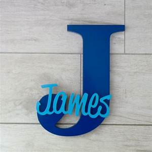 personalised wooden letters navy blue With navy blue wooden letters