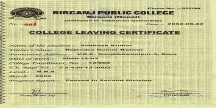 leaving certificate  schoolcollege sample application