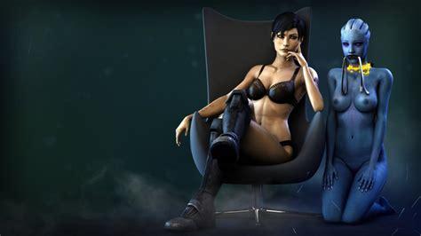 Rule 34 3d Asari Commander Shepard Female Femshep Liara