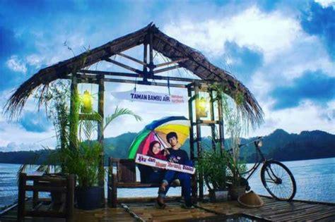 spot foto apik taman bambu air waduk sermo yogyakarta