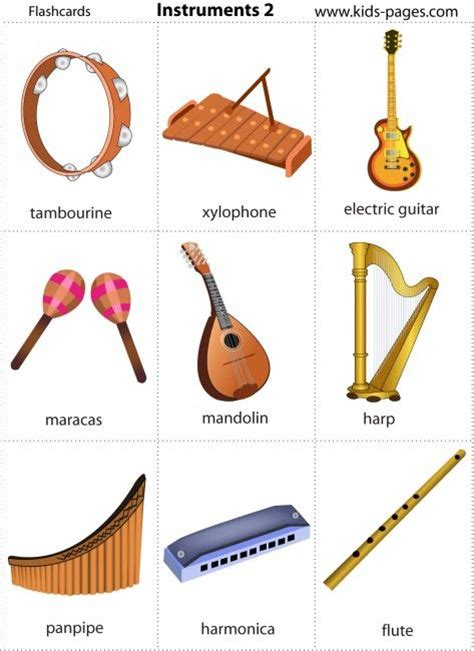 instrument cuisine pages free printable instruments flash cards free printable worksheets