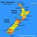 New Zealand On A Map - TravelsFinders.Com