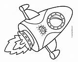 Coloring Rocket Ship Pages Space Getcoloringpages Printable Simple sketch template