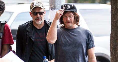 Norman Reedus Meets Up With Jeffrey Dean Morgan Before