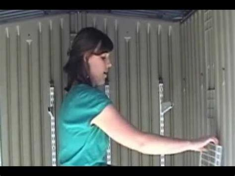 Rubbermaid Roughneck Shed Assembly by How To Install The Rubbermaid Fasttrack Organization Sy