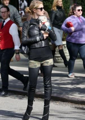 Toluca Lake Pumpkin Patch 2014 by Paris Hilton In Tights Out In Nyc