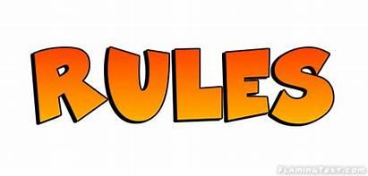 Rules Logos Text Font Bold