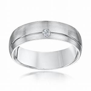 Palladium court shape diamond 6mm wedding ring for Palladium wedding ring