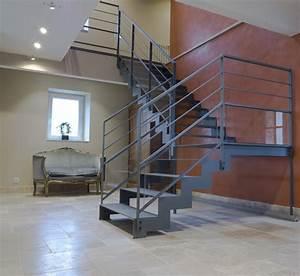Escalier Métallique Industriel : escalier design sur mesure en normandie toutes nos r alisations ~ Melissatoandfro.com Idées de Décoration