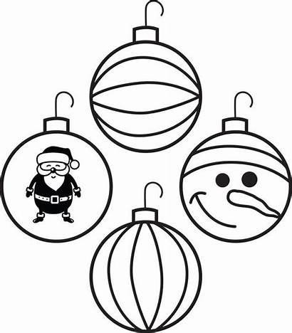 Ornaments Coloring Christmas Ornament Printable Pages Decorations