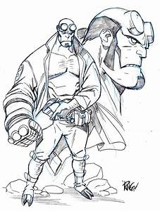 Hellboy sketch by Mike Wieringo | Mike Wieringo ...