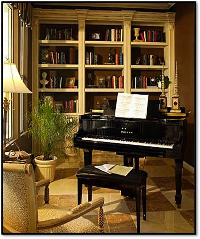Piano Grand Rooms Library Living Pianos Office