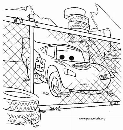 Cars Disney Mcqueen Coloring Pages Lightning