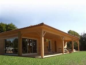 maison en bois ecologique With idee maison plain pied 0 maison plain pied ecologique