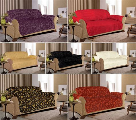 Throw Covers For Sofas by Jacquard Quilted Sofa Slip Covers For 1 2 3 Seater