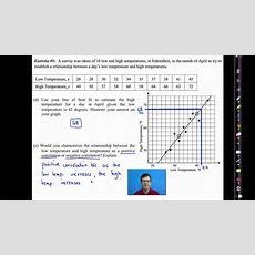 Common Core Algebra Iunit #10lesson #6bivariate Data Analysis Youtube