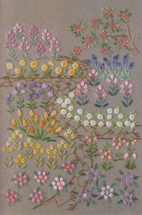 flower garden patterns embroidery pdf e pattern hand stitch garden flower design idea for pi