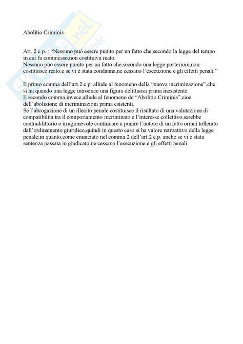 Dispensa Diritto Penale by Diritto Penale Abolitio Criminis Appunti