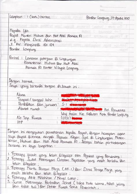 Lamaran Pekerjaan Cpns by Tips Mengurus Kartu Kuning Dan Contoh Surat Lamaran Cpns
