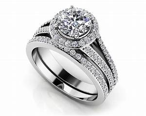 elegant split shank diamond bridal set roco39s jewelry With bridal wedding ring sets