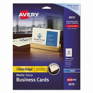 True print clean edge business cards by averyr ave8876 for Clean edge business cards
