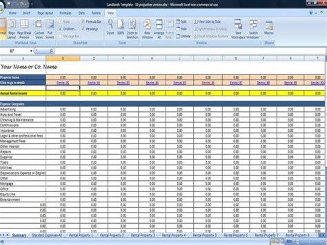 rental property spreadsheet template   properties