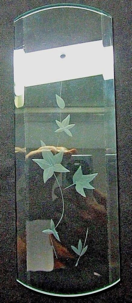 chandelier replacement glass panels 1 glass panel 2 radiuses bevels branch leaves