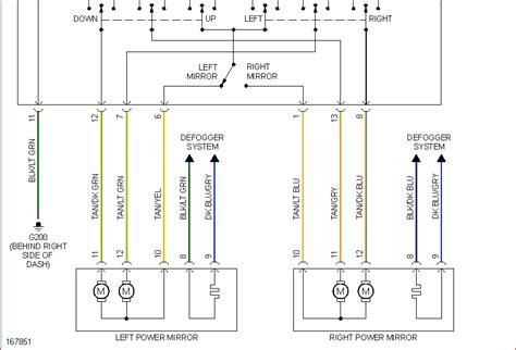 Wiring Diagram For Left Power Mirror Dodge Caravan