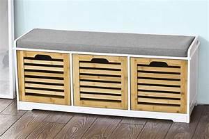 Coffre Rangement Bois : notre avis sur le coffre de rangement sobuy fsr23 wn ~ Teatrodelosmanantiales.com Idées de Décoration