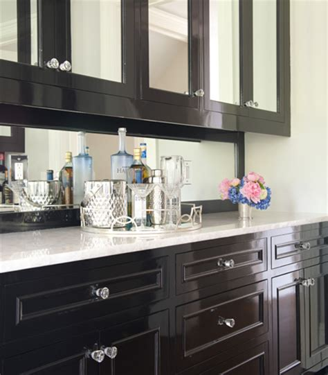 mirrored sideboard contemporary dining room