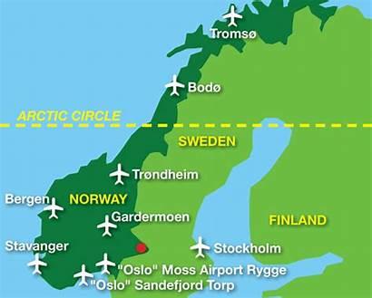 Norway Airports Map Norwegian Oslo Stockholm Bergen