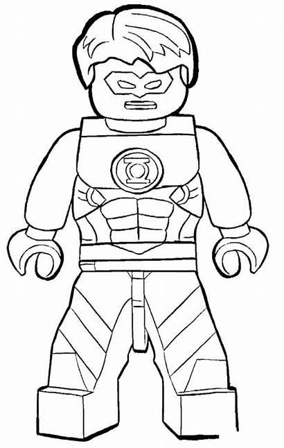 Coloring Lego Pages Lantern Superhero Printable Flash