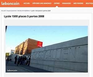 Le Bon Coin 67 Vente Immobiliere : toulouse il vend le lyc e gallieni 31 000 euros sur le ~ Dailycaller-alerts.com Idées de Décoration