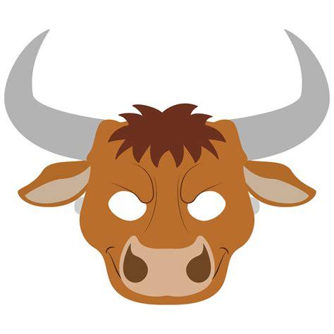bull mask template  printable papercraft templates