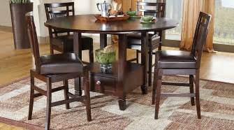 5 dining room sets landon chocolate 5 pc counter height dining set dining room sets wood