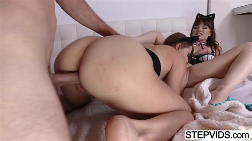 #Stepsisters #Alison #Rey #And #Zoey #Laine #Get #Fucked #By