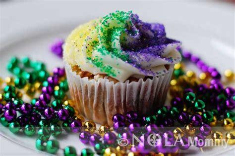 king cake cupcakes recipe nola mommy