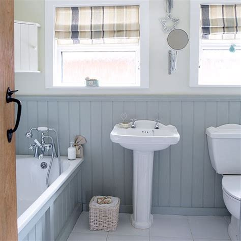 panelled bathroom ideas grey and white country bathroom with wall panels