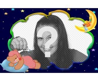 mettere cornice a foto cornice foto di mettere una foto di baby orso dorme con la