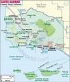 Santa Barbara County Map, Map of Santa Barbara County ...