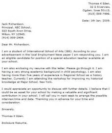 Education Cover Letter Examples