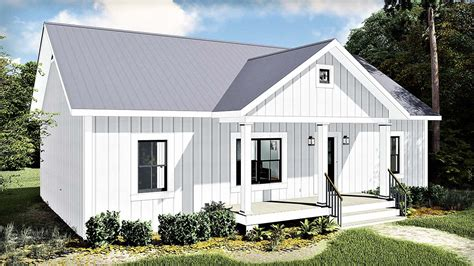 Country Style House Plan 77400 with 1311 Sq Ft 3 Bed 2